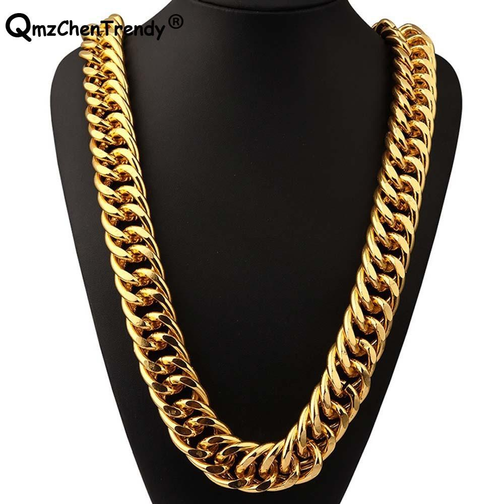 b60d19542680e 2019 T Show 26mm Width 322g Super Heavy Women Mens Thick Miami Cuban Chain  Necklaces Golden Silver Bling Hip Hop Exaggerated Jewelry C19041601 From  Shen84, ...