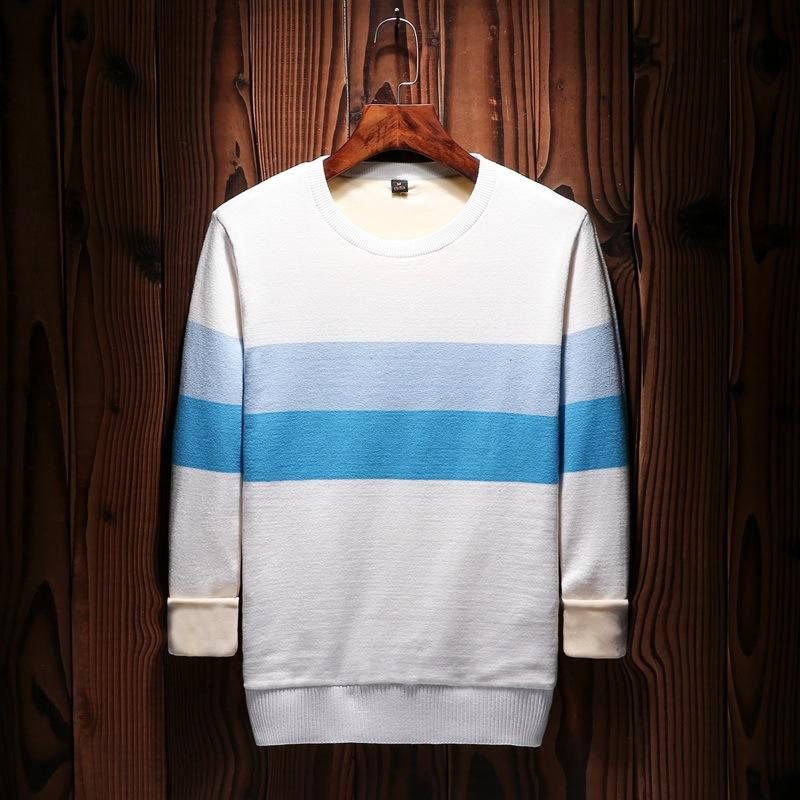 Pull Homme Men's Pulls Tricot Col Rond Sweater Coton Casuel