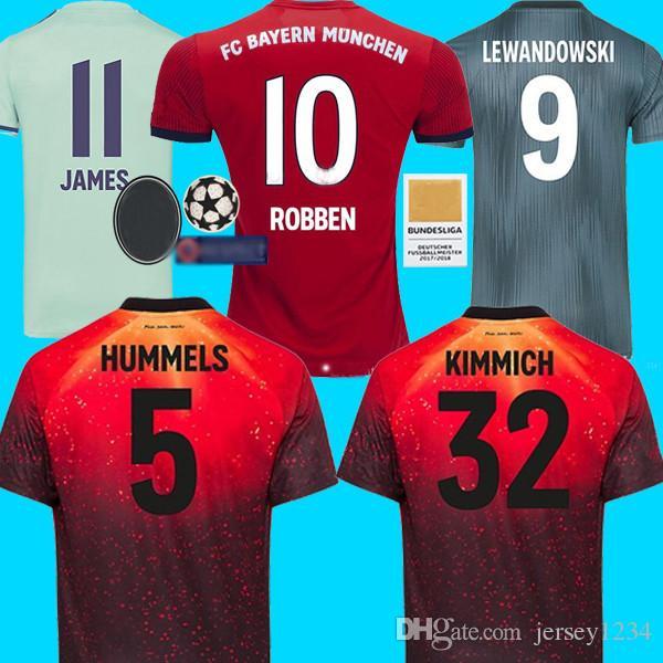 52287535f 2019 Thailand Soccer Jersey Sport Bayern Munchen Munich JAMES RODRIGUEZ  2018 2019 LEWANDOWSKI MULLER KIMMICH 18 19 Football Shirt Fußballtrikot  From ...