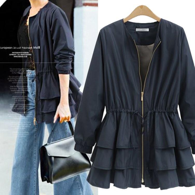 Acquista Autunno Inverno Donna Elegante Slim Jacket Zip Up Ruffle Coat  Peplum Womens Tunica Solid Giacche E Cappotti Capispalla A  37.05 Dal Masue   5a94aac8df8