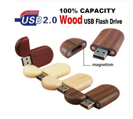 (Over 30pcs Free Logo)Custom LOGO Five Wooden Oval Shaped USB Flash Pen Drive USB 2.0 Wedding Gifts 4GB 8GB 16GB 32GB 64GB