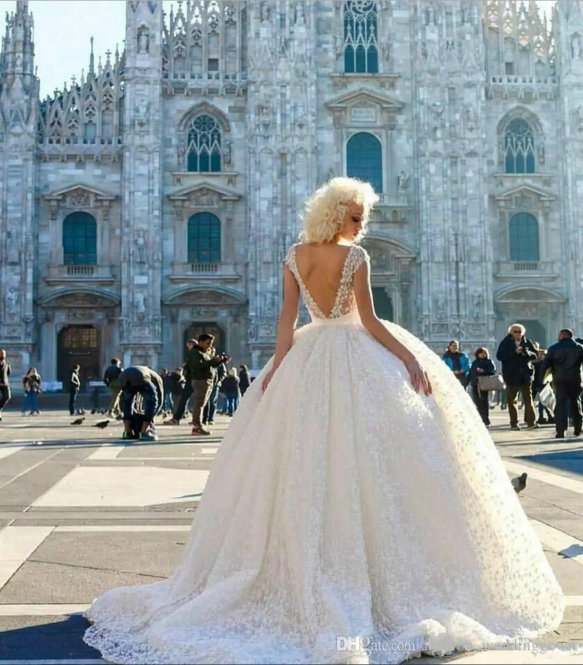 Empire Ball Gown Wedding Dresses: Luxurious Empire Ball Gown Wedding Dresses 2019 V Neck