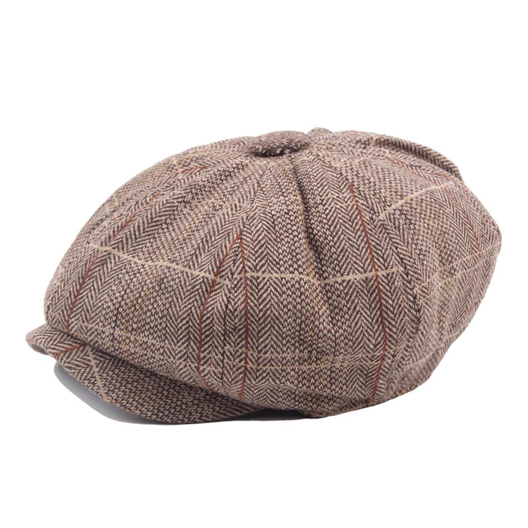 Compre Hombres British Octagonal Caps Moda Gorra Plana Algodón De Lino De La  Vendimia Boina Inglaterra Estilo Vendedor De Periódicos Sombrero Francés  Hombre ... 87cf9ae91db7
