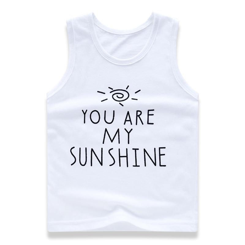 dc6f87eb 2019 Baby Girls Tanks & Camisoles 100% Cotton Vest Cute Cartoon Printed  Sleeveless Kids Summer Tops Toddler Singlet Boy Undershirts From Westbit14,  ...