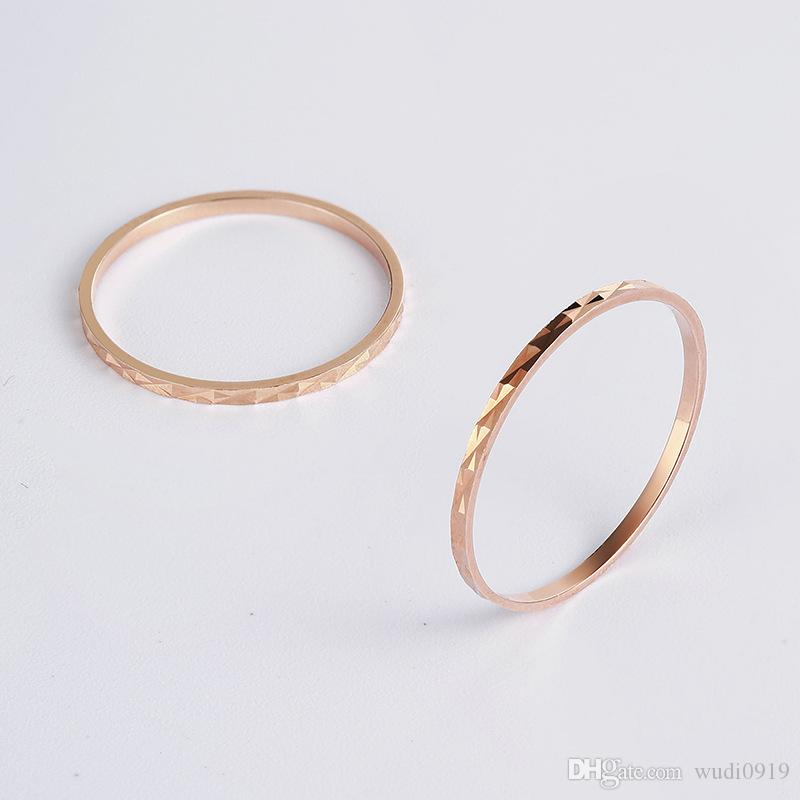 S925 Pure Silver Temperament Simple Joint Line Ring Female Ring