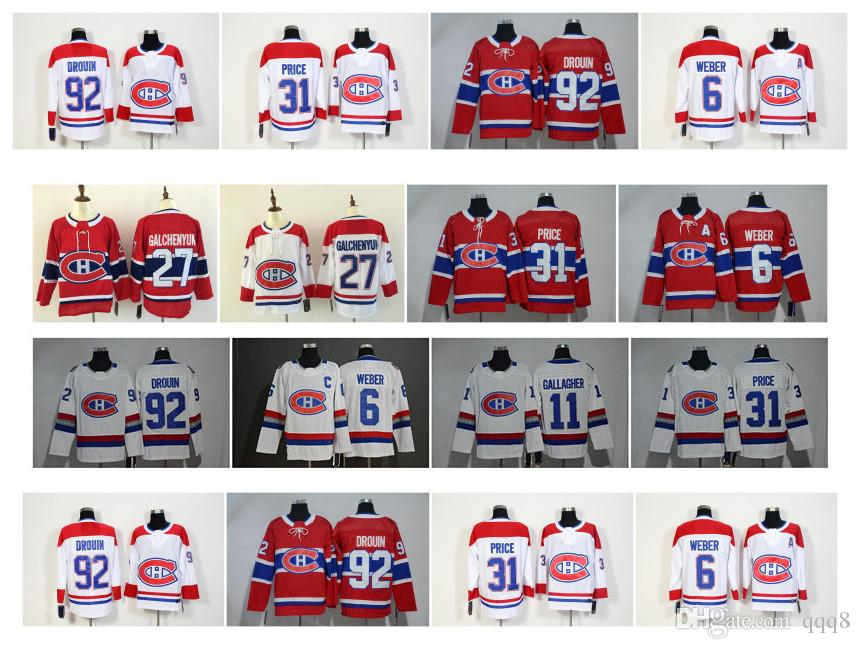 522dae58703 2019 NHL Montreal Canadiens Jersey 31 Carey Price 6 Shea Weber 13 Max Domi  15 Jesperi Kotkaniemi 92 Jonathan Drouin 100 Classic Hockey Jerseys From  Qqq8, ...