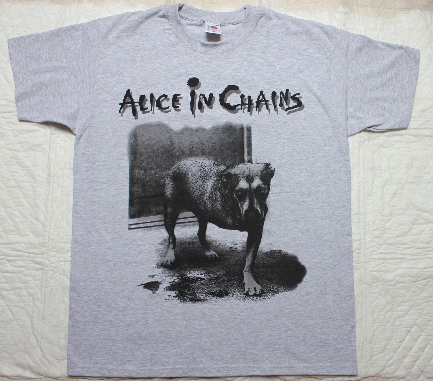 ALICE IN CHAINS DOG GRUNGE SOUNDGARDEN MOTHER LOVE BONE NIRVANA NEW GREY T-SHIRT Men Women Unisex Fashion tshirt Free Shipping