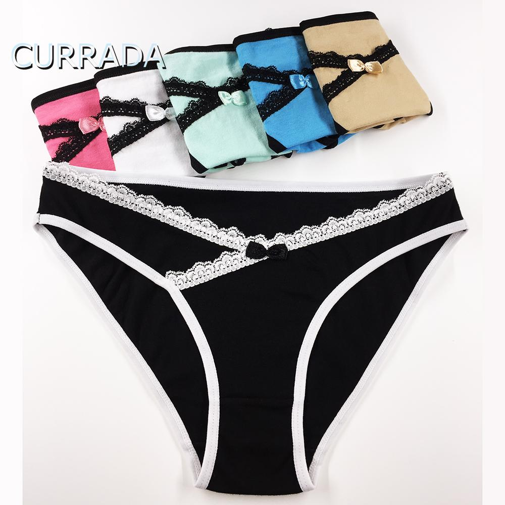 cf8c8418c09 CURRADA Sexy Panties Cotton Women Underwear Low Waiste Lace Briefs Female  Solid Panty Mujer Intimates for Lady Girl Briefs Cheap Briefs CURRADA Sexy  Panties ...