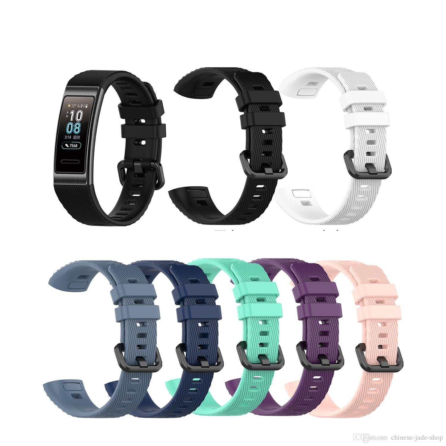 Silicone Replacement Strap Watch Band For Huawei band 3 band3 pro TER-B09 TER-B29 50pcs/lot