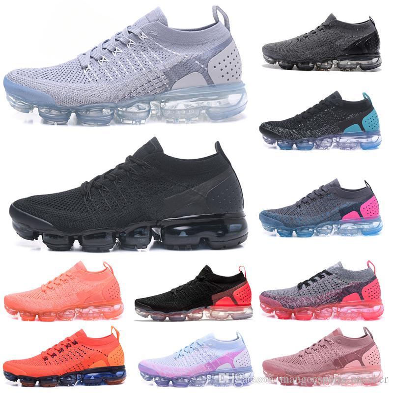 7a56489fc6 Compre 2019 Knit 2.0 Flagship Shoes Hombres Mujeres Triple Blanco Negro Gris  Azul Rosa Rosado Zapatillas De Deporte Diseñador De Moda Zapatillas  Deportivas ...