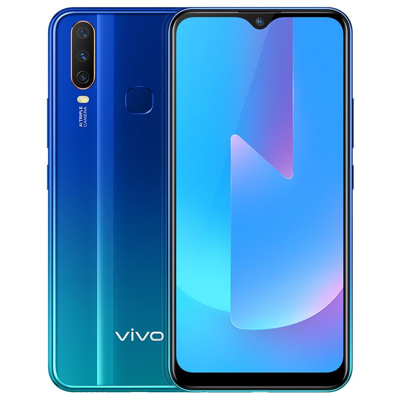"Original Vivo U3x 4G LTE Cell Phone 3GB RAM 32GB 64GB ROM Snapdragon 665 Octa Core Android 6.35"" 13MP Fingerprint ID Face VOOC Mobile Phone"