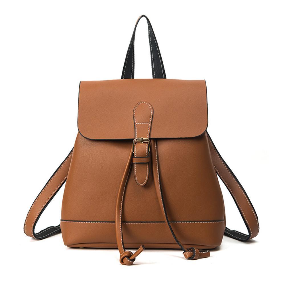 c9d350a280ee2 Satın Al Trendy Kadın İpli PU Deri Sırt Çantaları Genç Kız Küçük Okul  Çantaları Kadınların Yüksek Kaliteli Rahat Sırt Çantası # YL5, $36.33    DHgate.Com'da