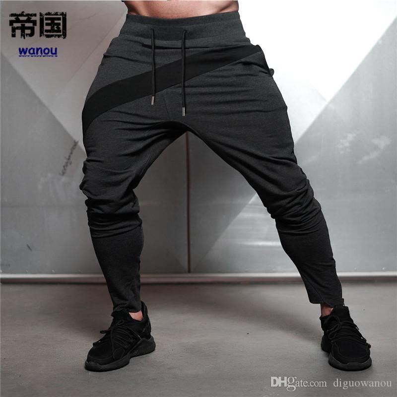 39c21210e3a6d Compre Pantalones Joggers Para Hombre Pantalones De Jogging Para Hombres  Culturismo Fitness Pantalones De Chándal Jogger Gym Training Sport Pants  Pantalones ...