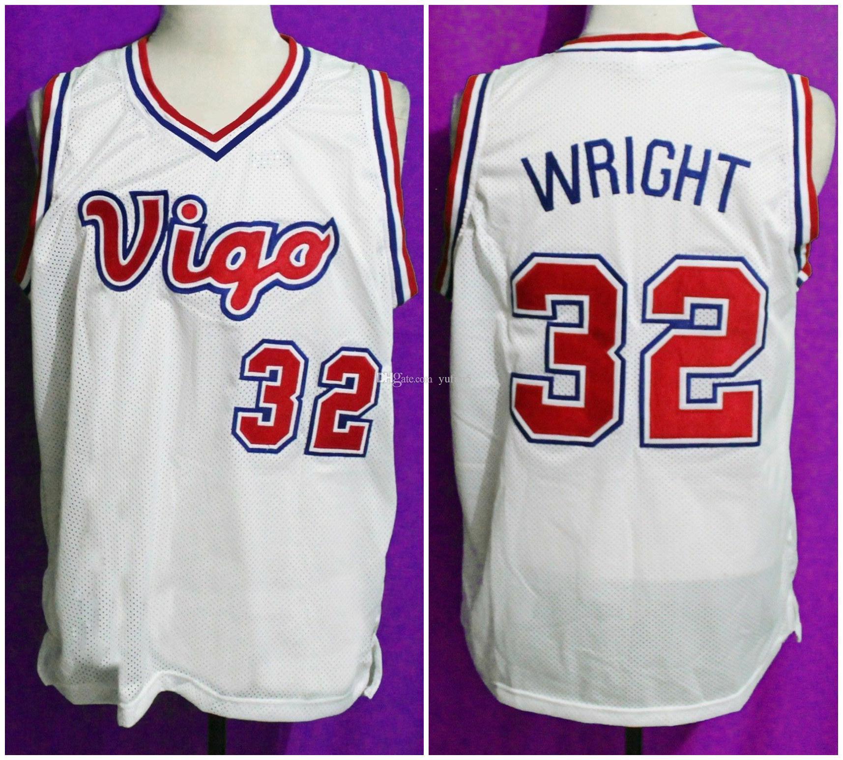 sports shoes 25f02 14117 #32 Monica Wright Vigo Retro Basketball Jersey Mens Stitched Custom Any  Number Name Jerseys