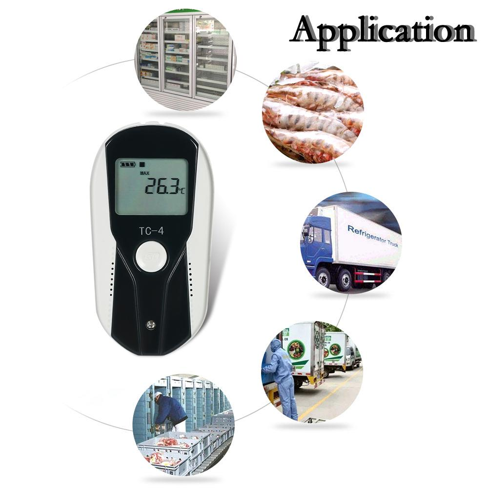 USB-Temperaturmessgerät TEMP-Datenlogger-Recorder LCD-Thermometer-Messgerät mit externem Temperatursensor