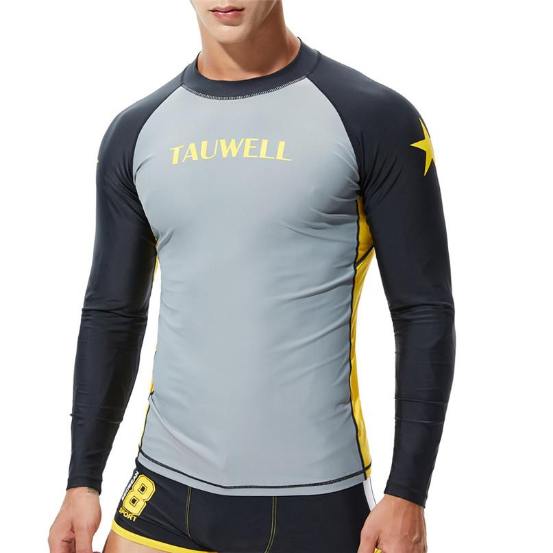 a7927077e4e 2019 Surfing Beach T Shirts Men Swim Rash Guards Fashion Coloured Alphabet  Sea Surfing Suit Quick Dry Tights Top Blouse  2n27 From Roadsun