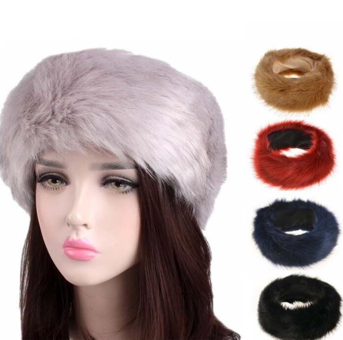 3870606dba6 Faux Fur Headband Lady Women Earmuff Wide Hairbands Warmer Bandanas Russian  Cossack Soft Keep Warm Headbands KKA6588 Hair Accessories Wedding Infant  Girl ...