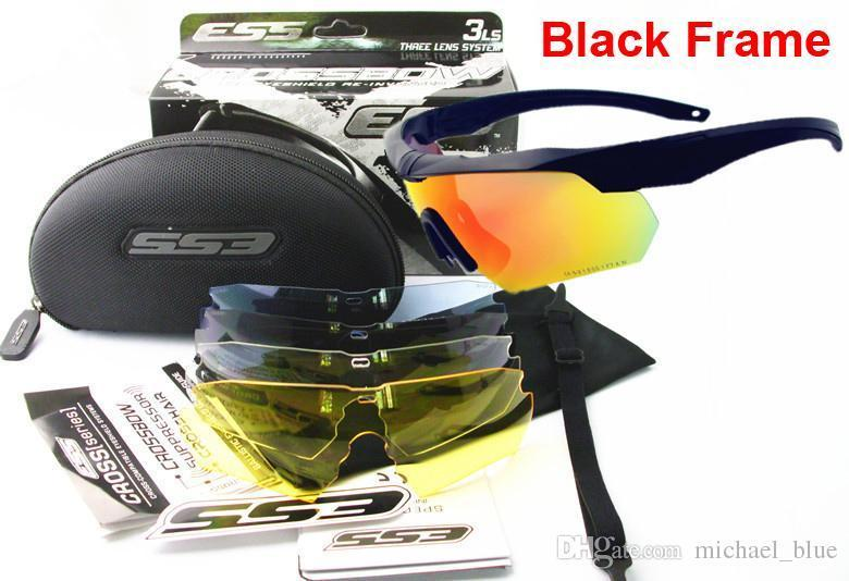 ESS CROSSBOW TR90 UV400 Cycling Goggles with 5 Lens Polarized Outdoor Sports Sunglasses Bulletproof Army tactial Glasses shooting Eyewear