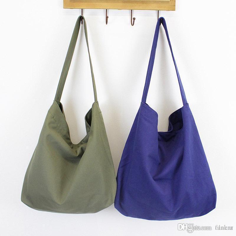 6369d9bbc Canvas Shoulder Bags Casual Style For Women Cloth Handbag Big Tote Bag Over  The Shoulder Bags Hobo Handbags From Dealen, $39.52| DHgate.Com