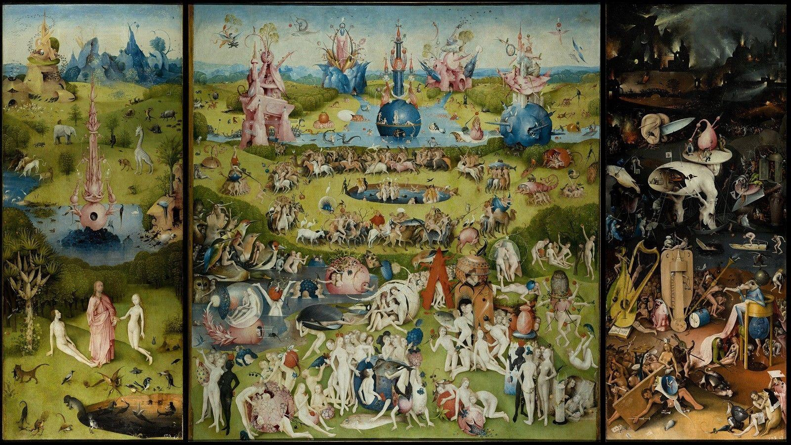 The Garden of Earthly Delights Hieronymus Bosch Decor wall Art Silk Poster  24x36inch 24x43inch