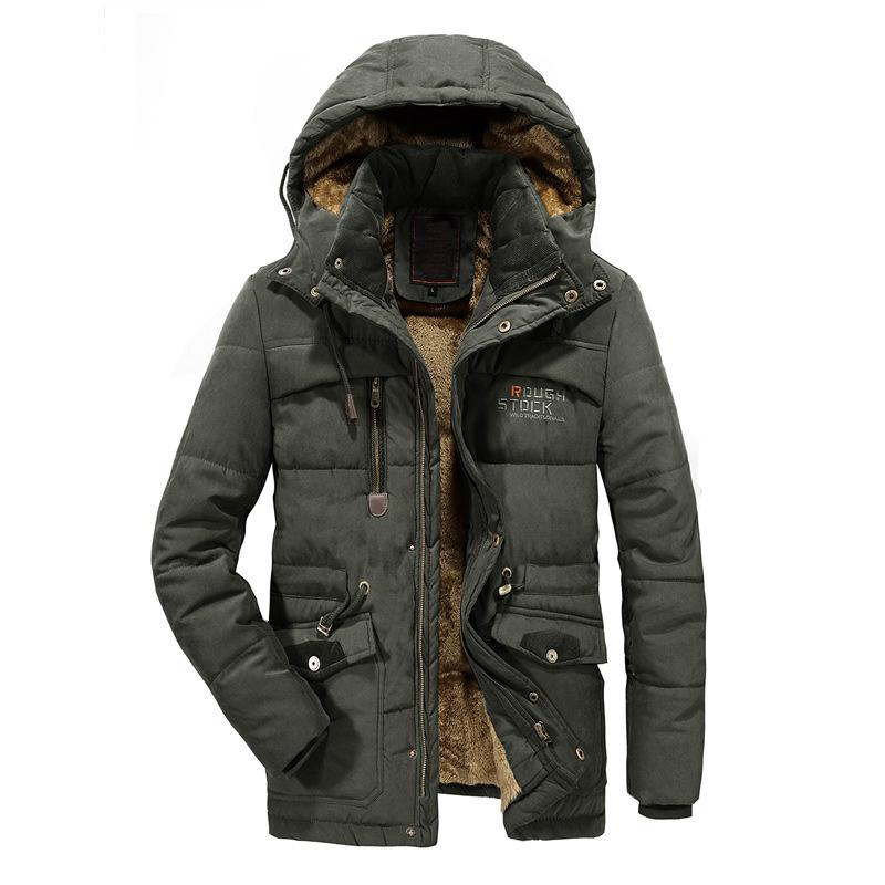 Winter Men's Jackets Thick Fleece 8XL Hooded Mens Coats Casual Jacket Male Outerwear Windproof Fashion Mens Brand Clothing