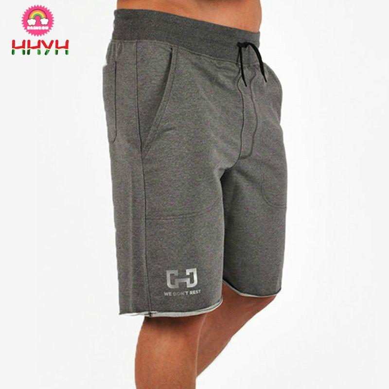 7ecb67cb79e Cotton Shorts Men Gym Fitness Run Jogging Sports Fitness ...