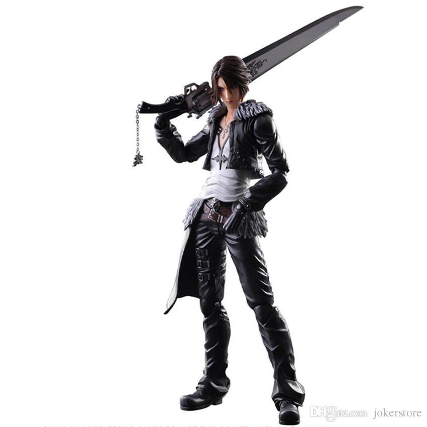 Play Arts Squall Leonhart Anime Figure Action Figures Collectible Moble Hot Toys Birthdays Gifts Doll New Arrvial PVC