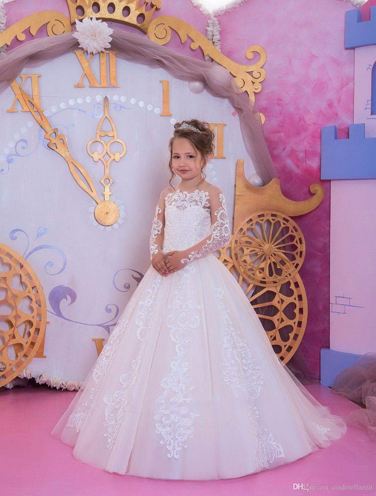 Captivating Belle Birthday Gown Costume In Shoulder Handmade Flower Tiered Chiffon  Pageant Dress Lovely Ball Gown Flower Girl Dress Flower Girl Dresses With  Tulle ...