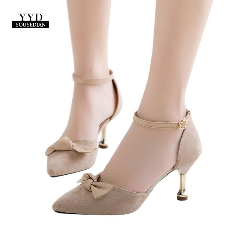 963194fc344 Shoes YOUYEDIAN Ship From RUWomen Fashion Solid Color Bow Square Toe Thin Heels  High Heeled Chaussures Femme  A30 Wedge Shoes Casual Shoes For Men From ...