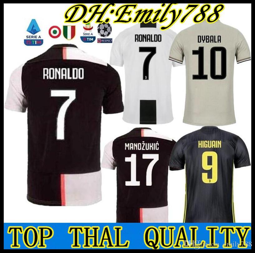 d67180e48 2019 Thailand RONALDO Juventus 2019 2020 Champions League Soccer Jerseys  DYBALA 18 19 20 Sports Football Kit Shirt MEN WOMEN KIDS Sets JUVE From  Emily788