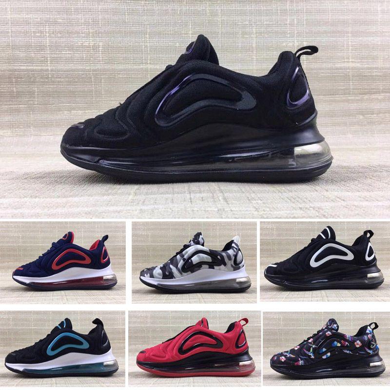 Nike Air Max 720 Zapatillas deportivas para niños Zapatillas de baloncesto para niños 72c Wolf Grey 72s Zapatillas deportivas para niños pequeños para