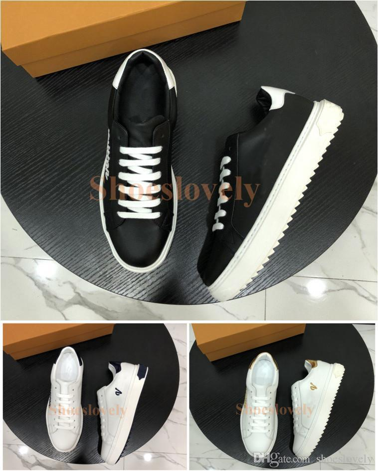 88d498ede Women Mens Designer Luxury Dress Shoes White Casual Sneakers Zapatos Nice  Embroidery Leather Brand Time Out Shoes Sneaker