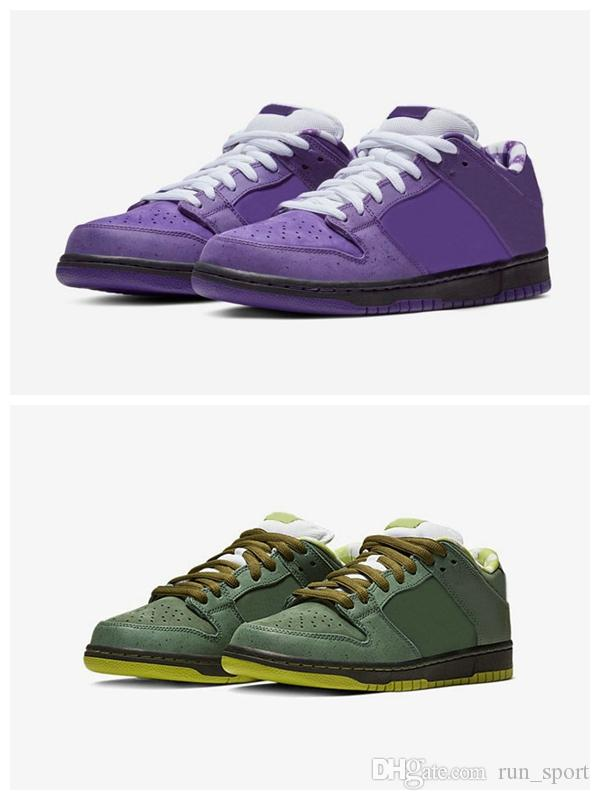 best website f9a9e 5903d 2018 Top Authentic SB Dunk Low Concepts Purple Lobster Court Voltage  Basketball Shoes Sports Sneakers Men Women BV1310 555 With Box Shoes Shop  Free Shoes ...