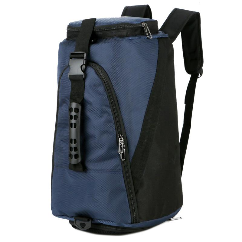 cdfeb7e9b8578 New Large Capacity Men Women Canvas Travel Bag Portable Luggage Bag  Independent Shoes Weekend Shoulder Backpack Nylon Waterproof