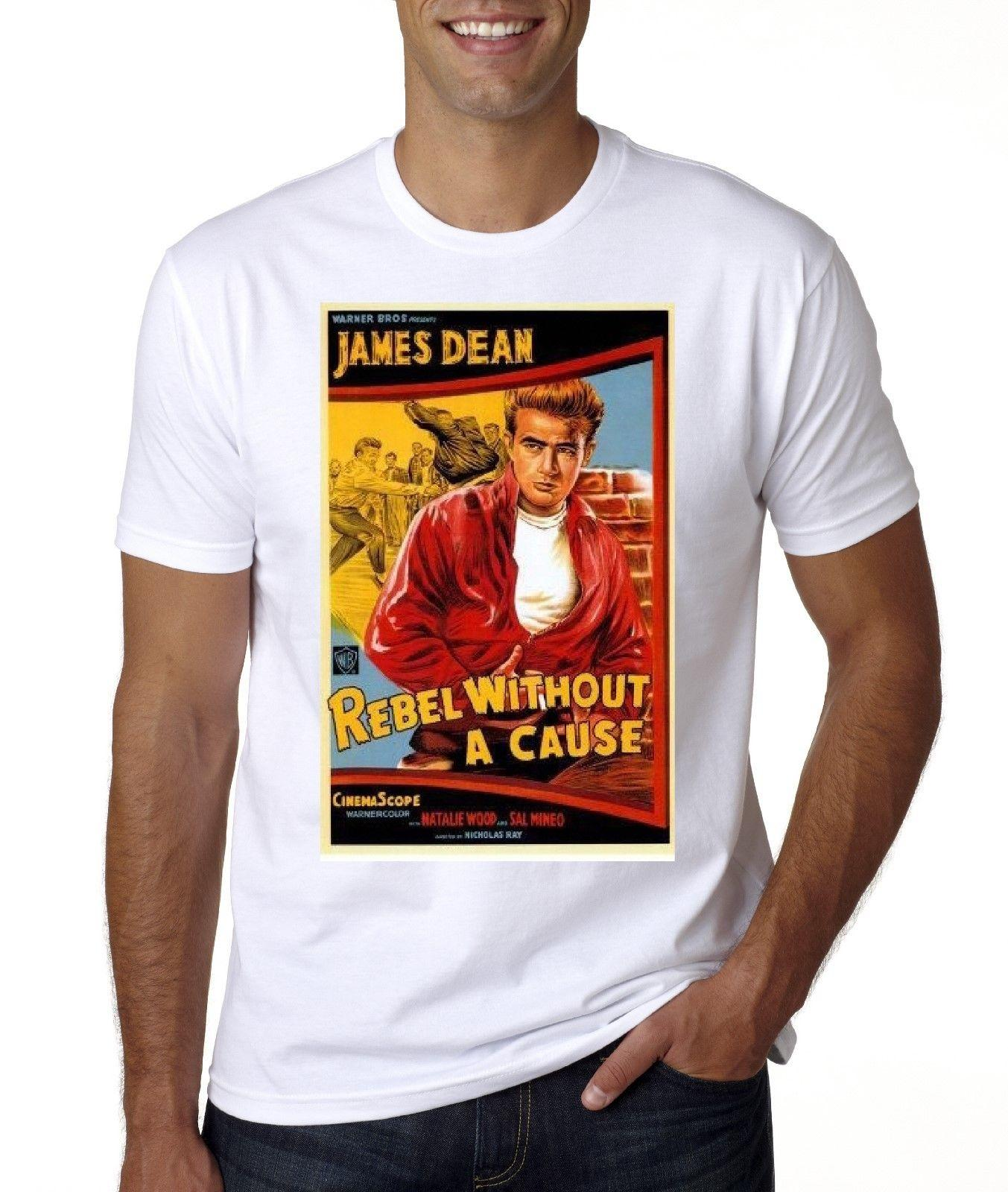 ca72bc8a1 NEW JAMES DEAN REBEL WITHOUT A CAUSE T SHIRT Funny Cool Shirts Be Awesome T  Shirt From Joyfulandhappy57