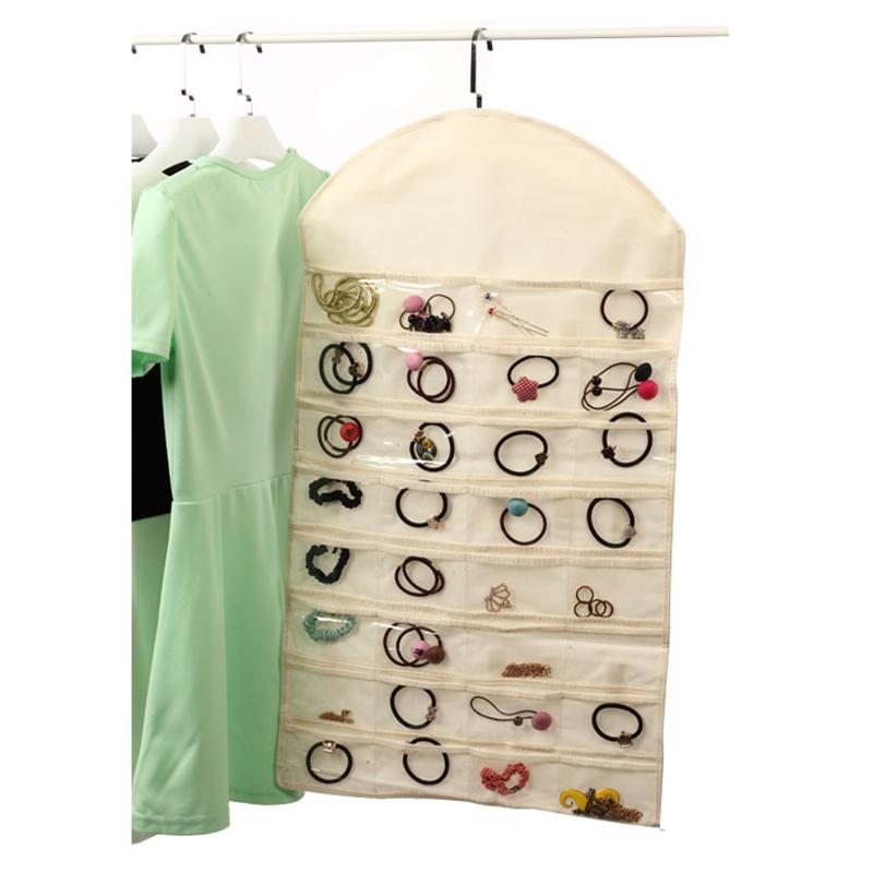 Hot Sale Large 81*46cm 32 Pockets Hanging Storage Display Bag Jewelry Holder Necklace Bracelet Earring Ring Pouch Organizer Bag
