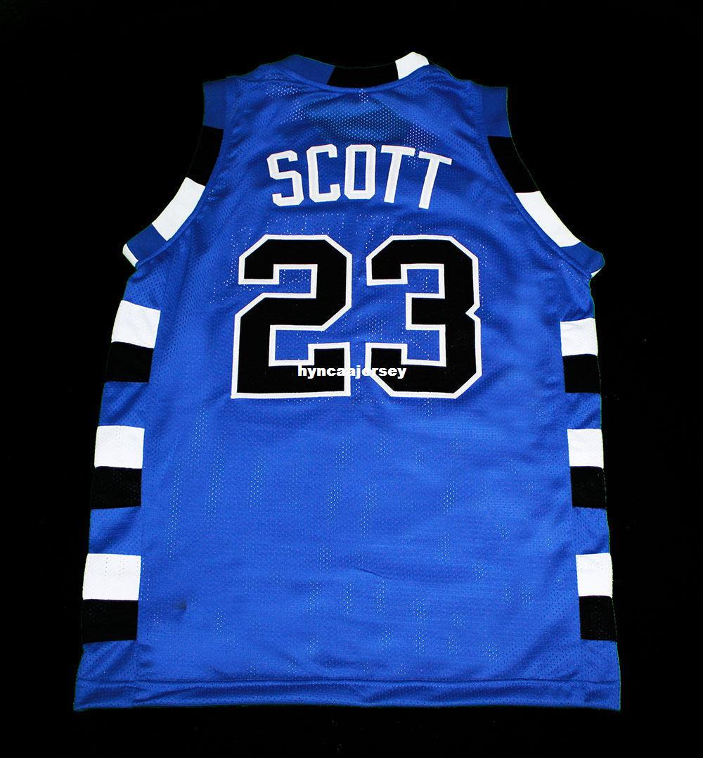 reputable site 1f221 bf41d Cheap Mens blue NATHAN SCOTT #23 ONE TREE HILL RAVENS JERSEY BLUE NEW ANY  SIZE XS - 5XL Retro Basketball Jerseys NCAA College