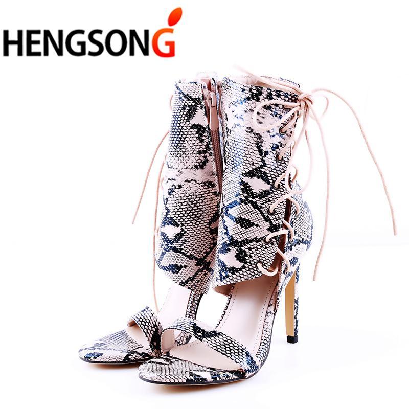 cec85816b2cc2 Designer Dress Shoes Fashion Women Party Pumps Super High Heel Sexy  Snakeskin Lace Up Pumps Shoe Woman Ankle Straps Sandalia Sandals Summer  Sexy Shoes Clogs ...