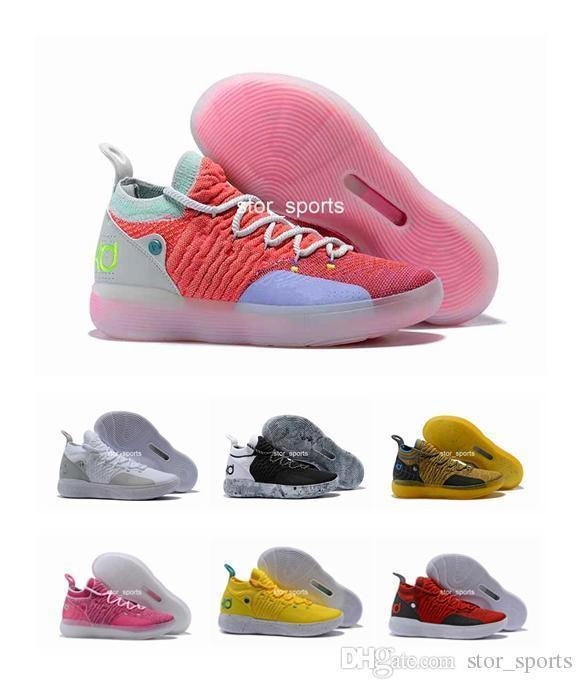 Arrival New KD 11 Mens Basketball Shoes, 11 Colors Zoom EP React EYBL Paranoid Multicolor Athletic Sport Sneakers Eur 40-46