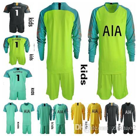 b3e7e7f672a 2019 KIDS LLORIS #1 Goalkeeper Uniforms Set KANE LAMELA ERIKSEN DELE ...