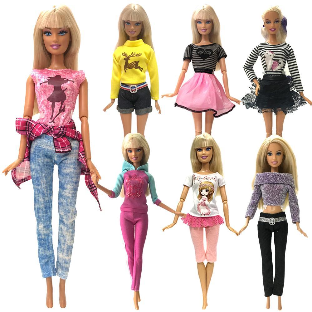 9a310a689fcc NK 2019 Más reciente ropa de muñeca vestido de moda desgaste diario vestido  de fiesta falda para Barbie Doll accesorios chica mejor regalo 0JJ