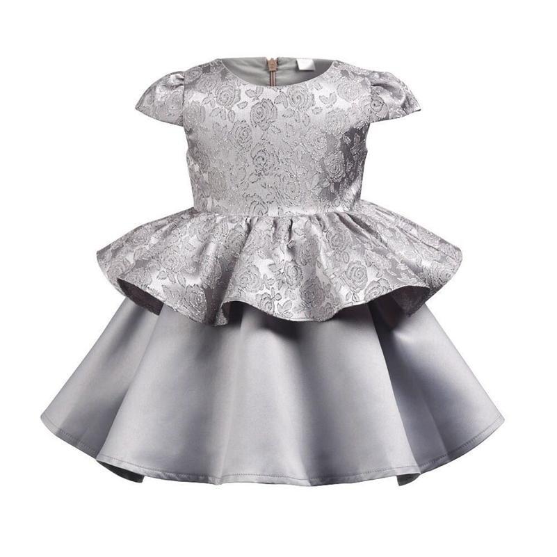 Vestito da cerimonia nuziale delle ragazze 2019 Nuovo vestito dalla ragazza del capretto Vestiti da partito di cerimonia nuziale del merletto di