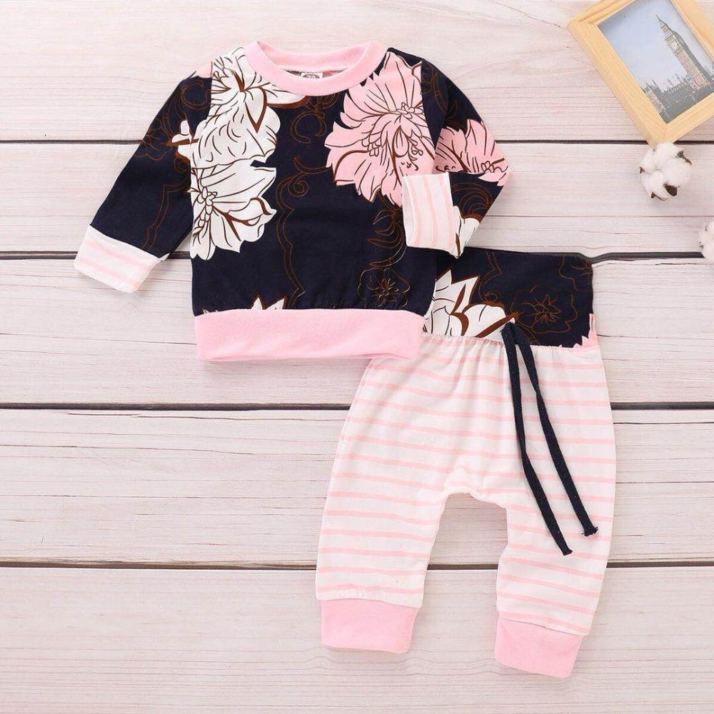 155cd4502421b 2019 Fashion Girls Kids Clothes Sport Set Autumn Pink Long Sleeve Casual  Outfit Toddler Girl Suit Children Spring Fall Clothing