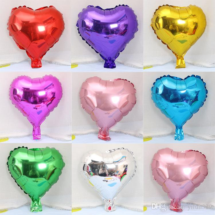Cheap Price New 10 Inch Mixed Heart Foil Balloons Party Balloon Birthday Wedding Decoration Classic Toys Aluminium Festival Schedule