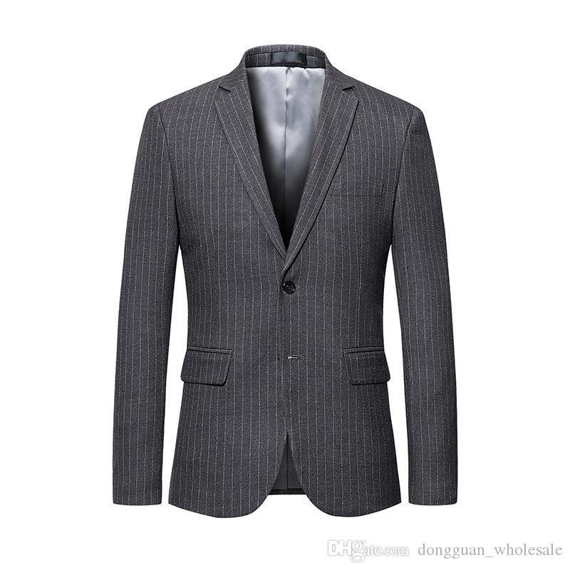 Compre Blazer Chaqueta Para Hombre Chaqueta 2019 De Lujo De La Marca Solo Traje  Cruzado Blazer De Los Hombres Del Banquete De Boda Chaquetas Chaquetas ... 77eb5bdb914