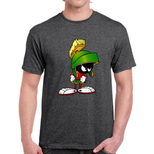 38170195702d Marvin The Martian Looney Tunes Dark Grey T Shirt Unisex Men Women Unisex  Fashion Tshirt Funny Cool Top Tee Black Cheap T Shirts Online Biker T  Shirts From ...
