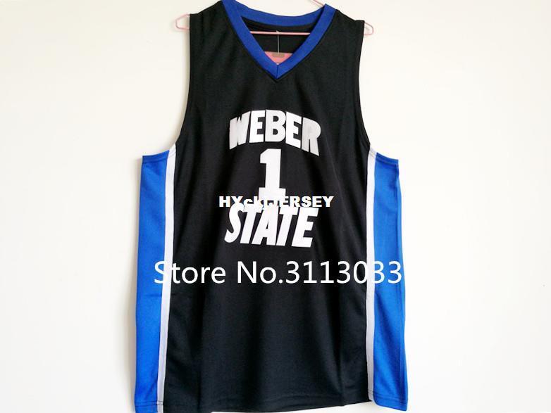 online store 4b686 dfcfa #1 Damian Lillard Weber State College Basketball Jersey Embroidery Stitched  XS-6XL vest Jerseys NCAA