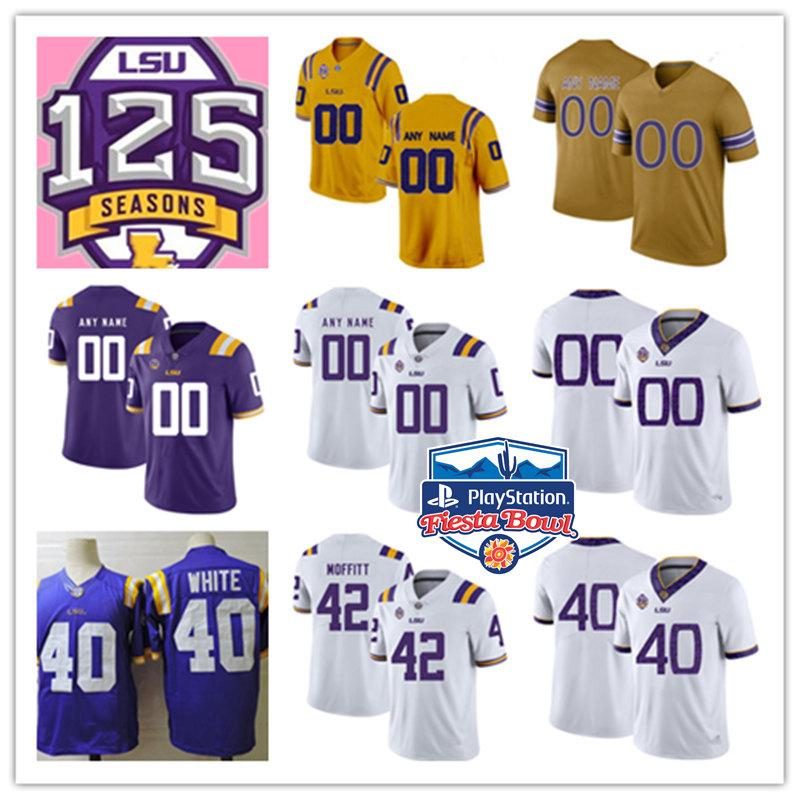 premium selection c3ec8 b9829 Custom NCAA LSU Tigers Jersey Jamal Adams Tae Provens Mannie Netherly  Travin Dural Devin White Aaron Moffitt LSU Tigers 125 Seasons Jersey