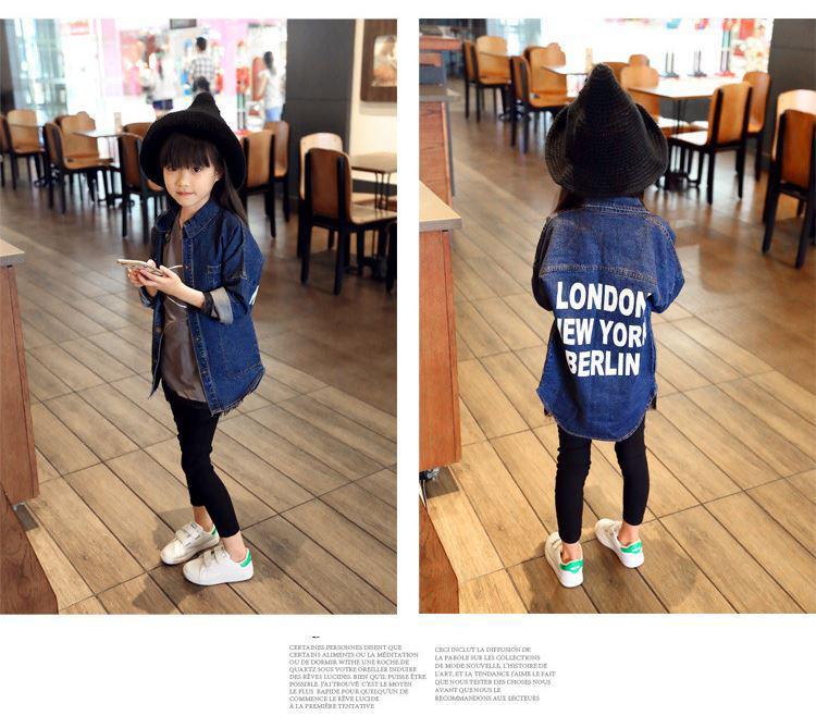 0fa4a739d 2019 2019 New Autumn Item Girl Long Jeans Jacket Casual Print Design ...