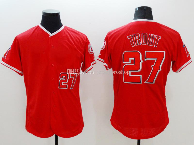 sale retailer 2c174 81d66 14 styles Los Angeles Angels Jersey 27 MikeTrout 150th 17 Shohei Ohtani  Majestic Scarlet Alternate FlexBase CoolBase Jerseys 2019